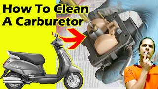 How To Clean A Suzuki Access Carburetor