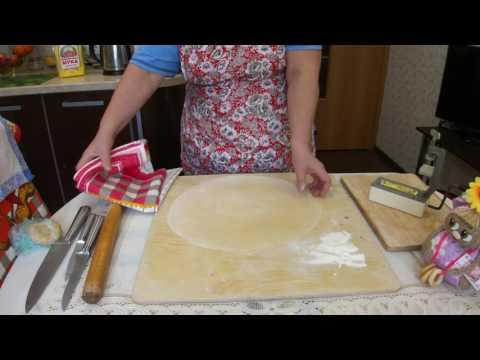 Домашняя лапша/2 способа нарезать домашнюю лапшу