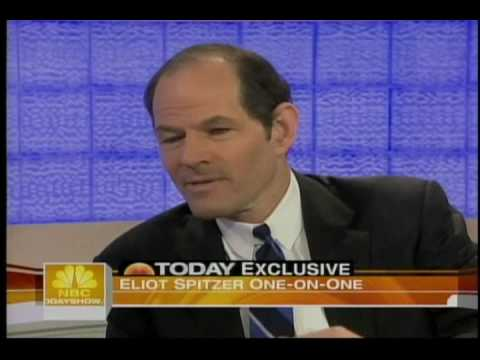 ELIOT SPITZER MATT LAUER TODAY SHOW APRIL 06 2009 FIRST INTERVIEW SINCE HOOKER SCANDAL