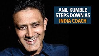 Anil Kumble steps down as India cricket coach