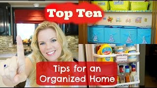 Top Ten Tips for an Organized Home
