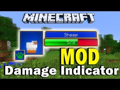 Minecraft Hit Splat Damage Indicator MOD