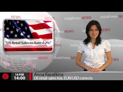 InstaForex News 14 February. US retail sales rise, EUR/USD corrects
