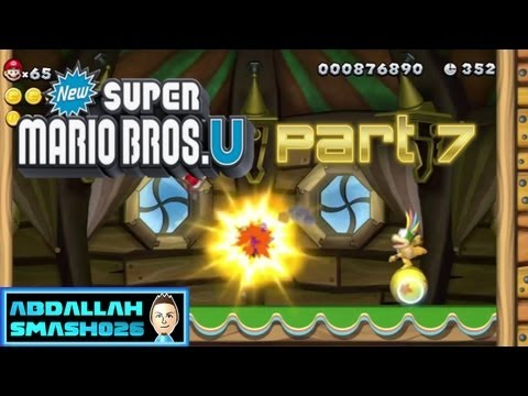 Let&#039;s Play New Super Mario Bros U for WiiU - Part 7: W1-C &quot;Lemmy&#039;s Swingback Castle&quot; 100% With Abdallah