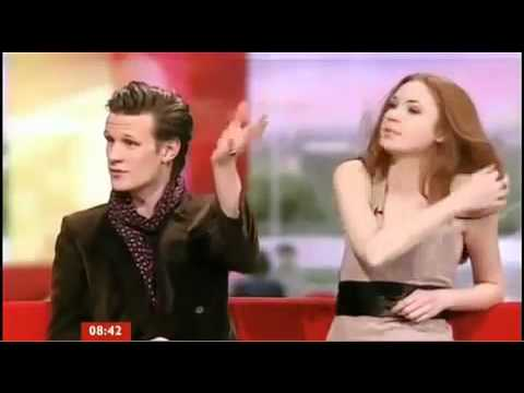 Breakfast: Matt Smith and Karen Gillan talking about Xmas Special