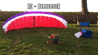 Matthias RC-Paraglider: Hacker RC FLAIR 4.5 + XXL Harness at Germans Spessart Slope