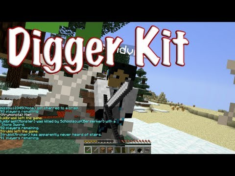 MCPVP.com   Review #23 Digger Kit   Minecraft Hunger Games