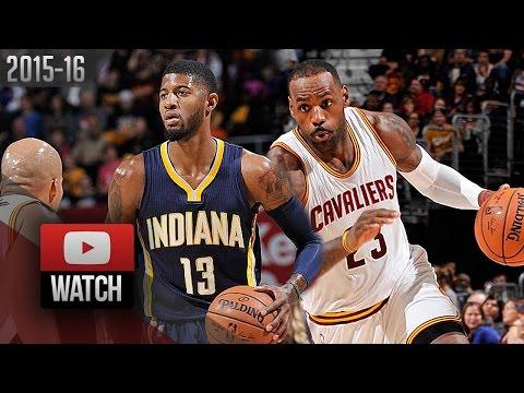 LeBron James vs Paul George Duel Highlights (2015.11.08) Cavaliers vs Pacers - EPIC!