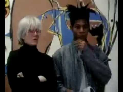 Andy Warhol and Jean-Michel Basquiat, filmed in 1986