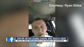 Police: Man shoots Facebook Live while recklessly driving on beach