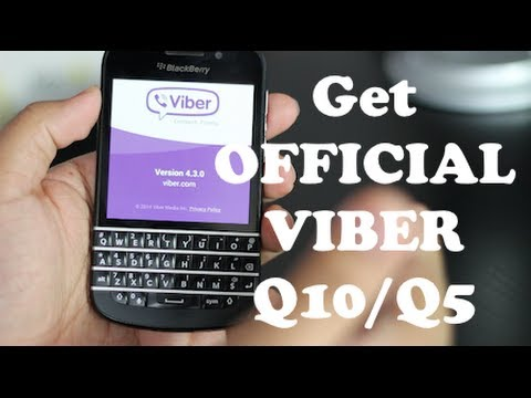 How to Install Viber 10 OFFICIAL for BlackBerry Q10/Q5 Qseries