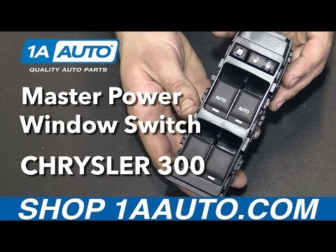 How to Install Replace Front Master Power Window Switch 2006-10 Chrysler 300