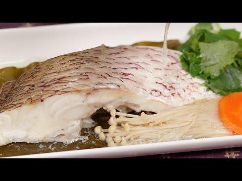 Tai Kombu-mushi (Steamed Sea Bream on Kombu) Recipe 鯛の昆布蒸し 作り方 レシピ