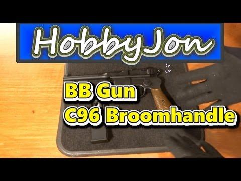 C96 BB Gun Mauser Broomhandle - First Shoot