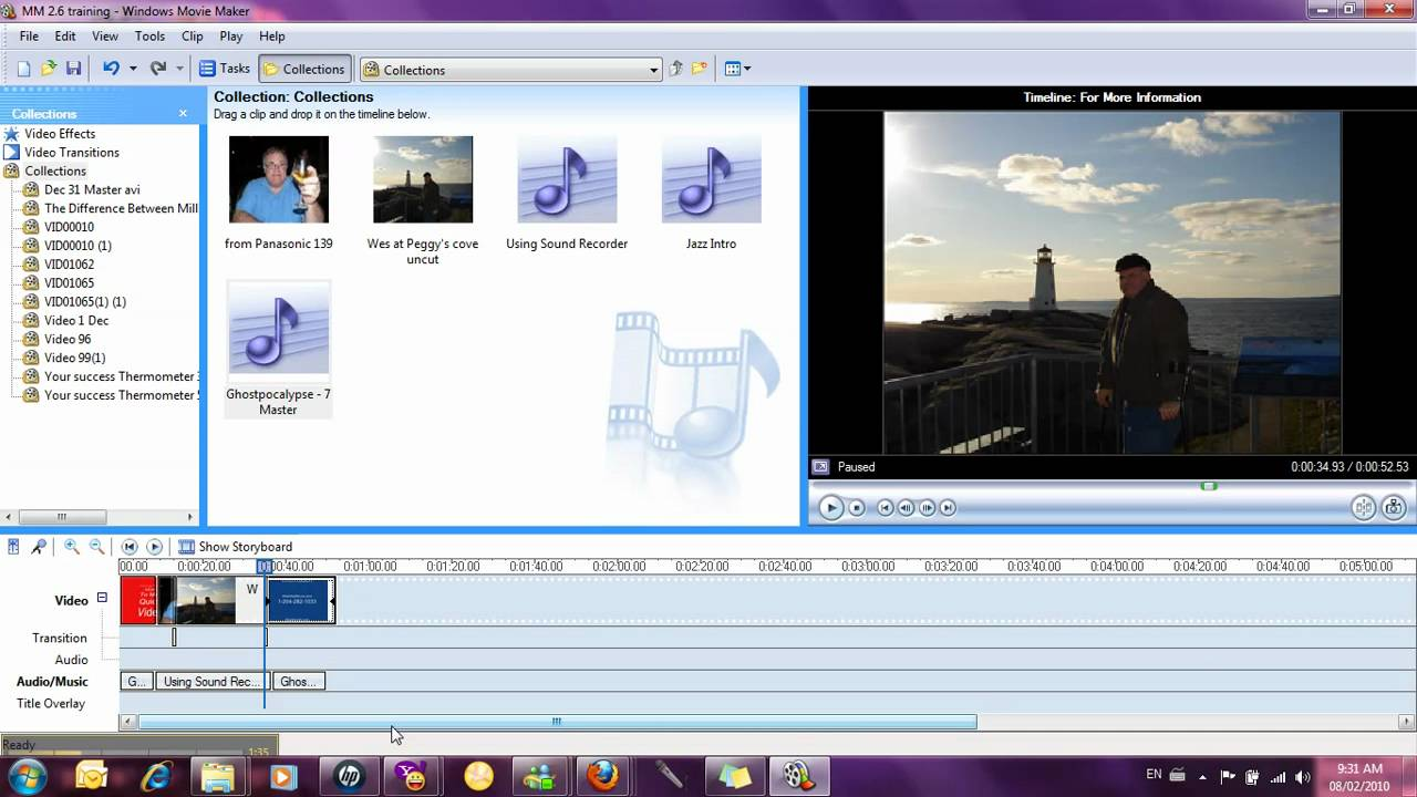 Windows spaces movie maker