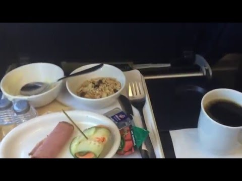 South African Airways Maputo to Joburg Business Class Coffee