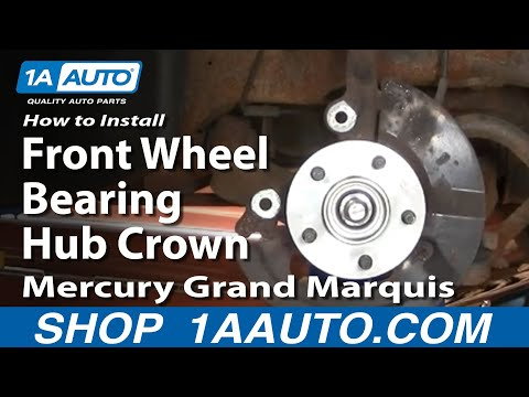 How To Install Replace Front Wheel Bearing Hub Crown Victoria Grand Marquis 98-02 1AAuto.com
