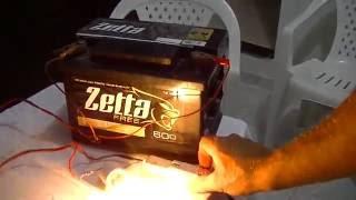 Carregador De Baterias Para Carro E Moto caseiro usando uma lampada incandescente