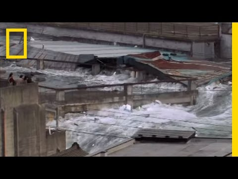 Rare Video: Japan Tsunami