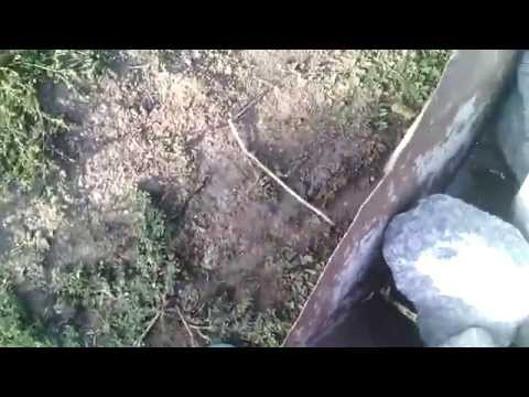 Фундамент из бутового камня,как я бутую,процесс бутовки.