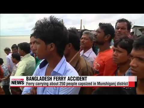 Ferry carrying about 250 people capsizes in Bangladesh