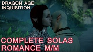 Dragon Age Inquisition: Solas Romance with male Inquisitor - All Cutscenes (Bi Solas Mod)