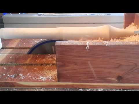 SIMPLE JIG! Turns a TableSaw into a Lathe!