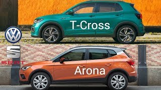 VW T-Cross vs SEAT Arona | Comparison Small SUVs