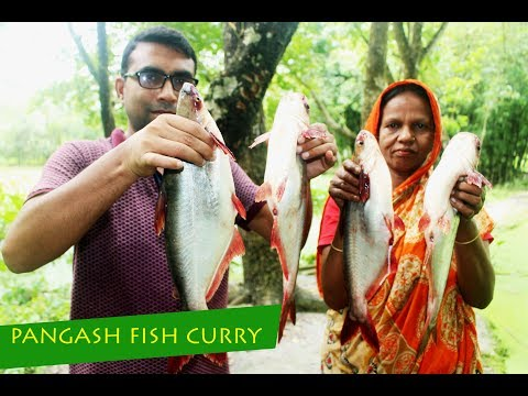 Pangash fish and ash gourd curry recipe | Village food pangash mach curry