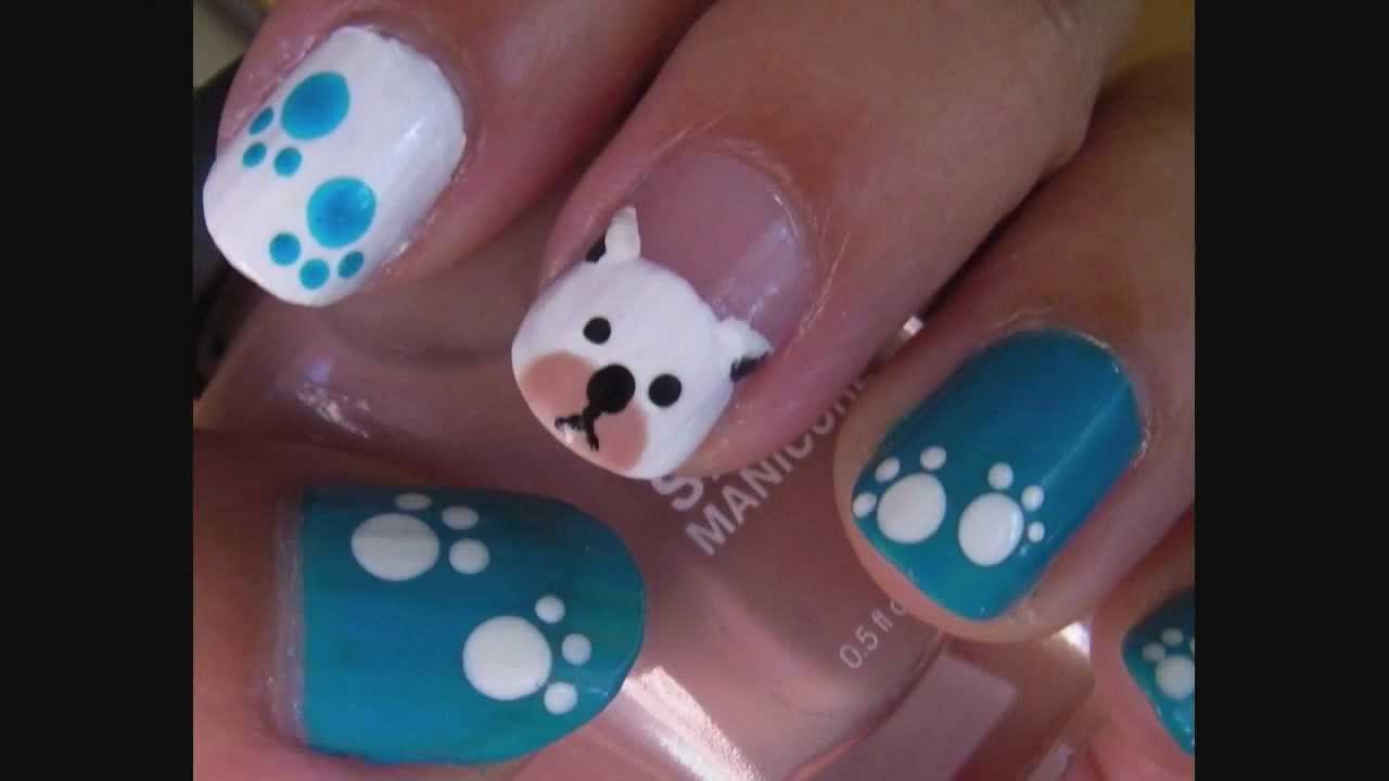 Dog / Puppy Nail Art Design
