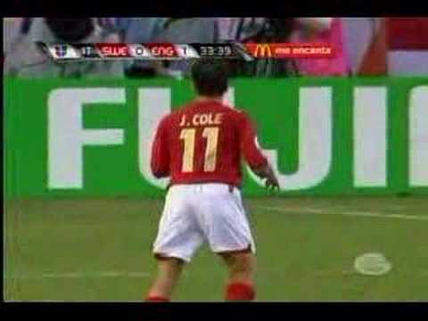 World Cup Goal. Joe Cole World Cup goal