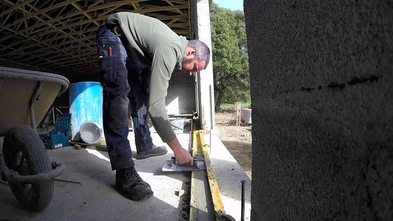 R alisation des rejingots youtube - Comment faire un seuil de porte en beton ...