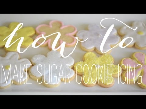 How To: Sugar Cookie Royal Icing