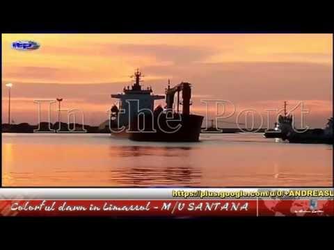 Colorful dawn in Limassol - M/V SANTANA