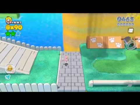 Super Mario 3D World (Wii U): World 1-1 - Speed Run (Clear Time: 043)