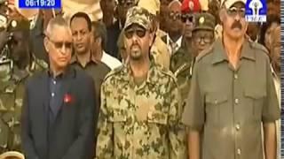 Ethiopia : ፕረ .ኢሳይያስ፣ ዶር አቢይ፣ ዶር ደብረጽዮን እና ደመቀ  የሁለቱን ሃገራት መዝሙር ሲዘምሩ
