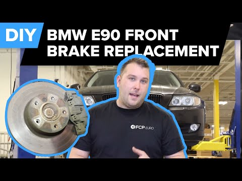 BMW E90 Front Brake Replacement (328i Pads. Rotors & Sensors) FCP Euro
