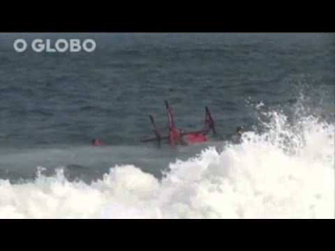 Raw: Rescue Helicopter Crashes in Brazil