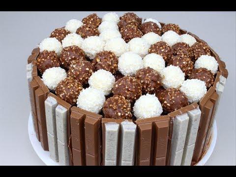 Kit Kat & Ferrero Rocher Cake