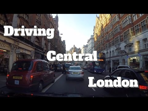Driving through the City of London