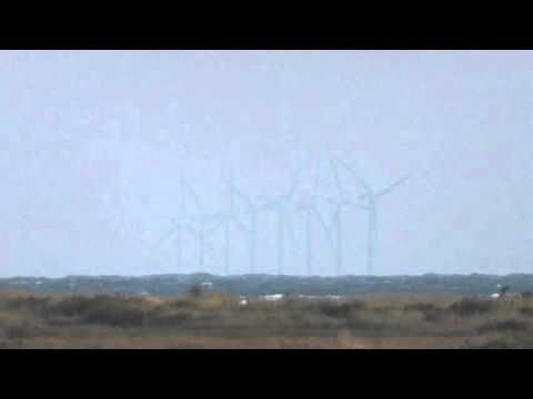 good green Energy Offshore wind farm Stiffkey Norfolk coast UK 11oct15 902am