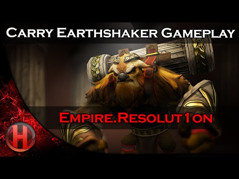 Empire.Resolut1on 6286 MMR Carry Earthshaker Gameplay Dota 2