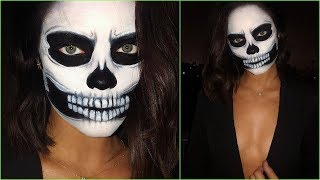 Get Ready With Me: Halloween Skull Makeup!  2018