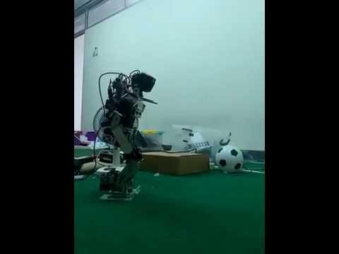 """Humanoid Robot """"ROBI"""" UGM – Walking Speed Test [2013]"""