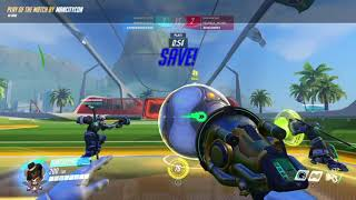 Overwatch: Basically had to solo carry. What a messy goal!