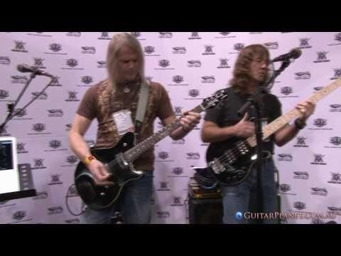 Steve Morse and Dave Larue NAMM 2011 - Music Man Game Changer