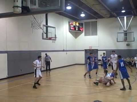 Tony Mekibel On the ground buzzer beater for Yeshiva of Virginia