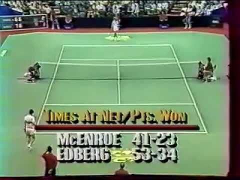 エドバーグ(エドベリ) vs マッケンロー Semi 決勝戦(ファイナル)  - Dallas 1987 - 10/19