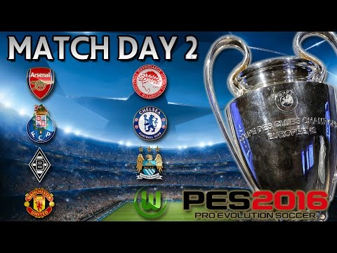 PES 2016 UEFA Champions League - Group Stage Match Day 2 (English Clubs)