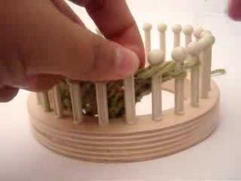 M1 (make one) increase on a knitting loom - YouTube